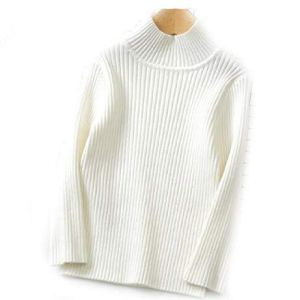 BCVHGD Winter Children Sweaters Turtleneck Bottoming Tops Boys Kids Cotton Toddlers Girls Knitting Pullovers