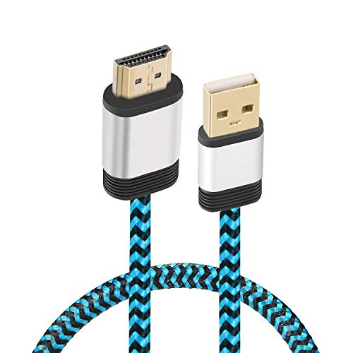 USB to HDMI cable, Yeworth 0.5m USB 2.0 Male to HDMI Male Charger Cable Splitter Adapter
