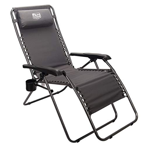 Timber Ridge Zero Gravity Chair Locking Lounge Oversize Recliner for Outdoor Beach Patio Camping Support 300lbs