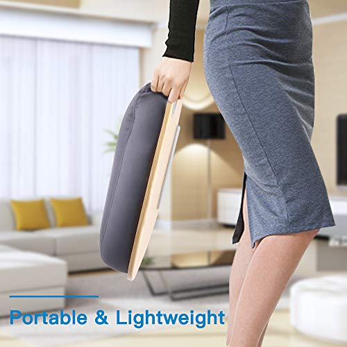 """41PaOywBjWL - HUANUO Laptop Stand with Cushion on Bed & Sofa, as Book Stand/Sleeping Pillow/Lap Desk with Cable Hole & Anti-Slip Strip, Fit up to 15.6"""" Notebook"""