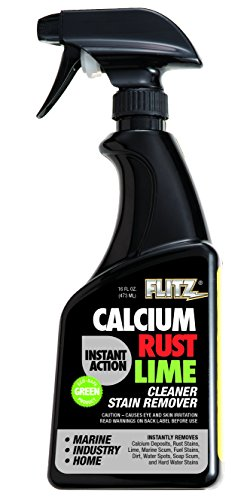 Flitz CR 01606 Instant Calcium, Rust and Lime Remover, 16 oz. Spray Bottle