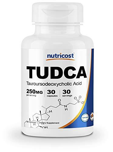 Nutricost Tudca 250mg, 30 Capsules (Tauroursodeoxycholic Acid) - Gluten Free, Non-GMO