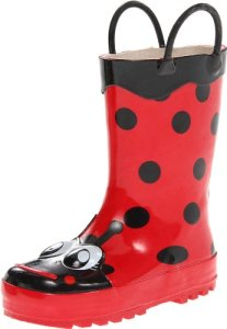 Western Chief Kids Girls' Waterproof Easy-On Printed Rain Boot