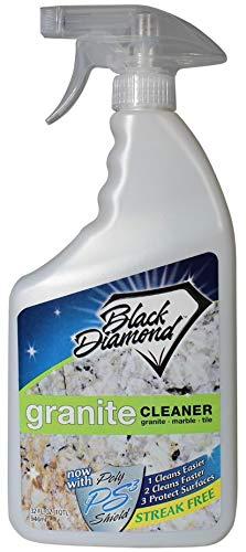 Black Diamond Stoneworks Granite Counter Cleaner: Natural Stone, Marble, Travertine, Tile, Quartz, Concrete Countertops and Antiques. (32OZ)