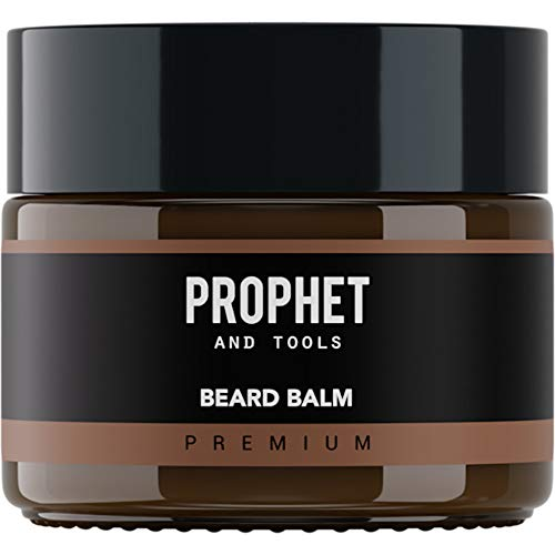 PREMIUM Beard Balm Butter and Wax Formula For Men Grooming! Adds Mild Styling & Hold, Softens Beards & Mustache, Gives Shine and Promotes Fuller Thicker Beard Oil Hair Growth! Prophet and Tools (100g)