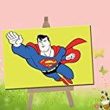 DoMyArt Paint By Number Kit For Children 4X6 Inch (Superman)