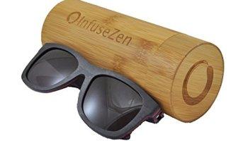 skateboard wooden sunglasses wood sun glasses with polarized lenses wayfarer - Wood Framed Sunglasses