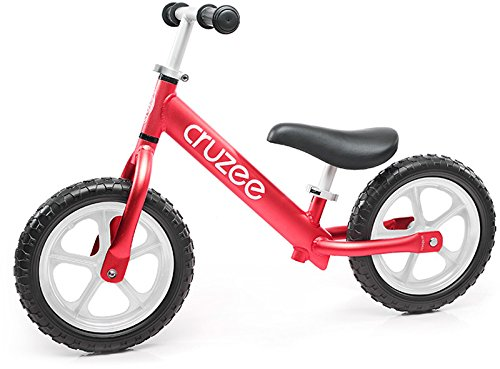 Cruzee Ultralite Balance Bike (4.4 lbs) for Ages 1.5 to 5 Years | Red - Best Sport Push Bicycle for 2, 3, 4 Year Old Boys & Girls– Toddlers & Kids Skip Tricycles on The Lightest First Bike