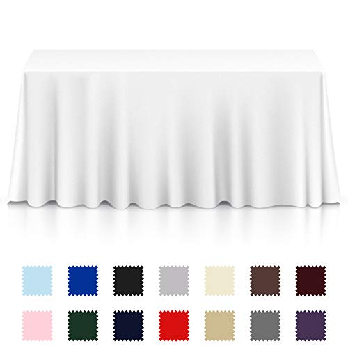 Lann's Linens - Premium Tablecloth for Wedding/Banquet/Restaurant - Rectangular Polyester Fabric Table Cloth (Multiple Colors & Sizes)