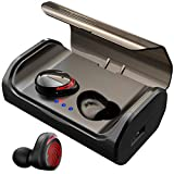 【120H Playtime】 True Bluetooth 5.0 Wireless Ear Buds with 3000mAH Charging Case, Automatic Pair/Deep Bass/Noise Cancellation/Waterproof Sport Wireless Bluetooth Headphones Headset