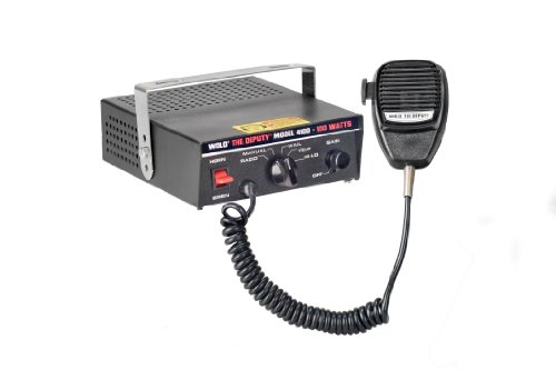 Wolo (4100) The Deputy 100 Watt Electronic Siren, P.A System and Radio Rebroadcast - 12 Volt