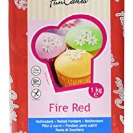 FunCakes Pasta di Zucchero Rosso Fuoco - 1000 gr