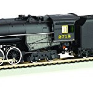 Bachmann 2-8-4 Berkshire Steam Locomotive & Tender — DCC Sound Value Equipped C&O KANAWHA #2718 – HO Scale 41Ppst7hGUL