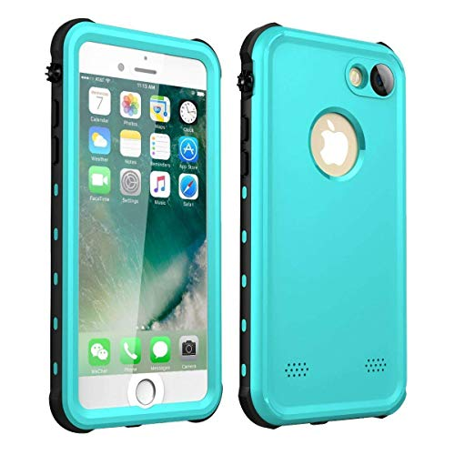 iPhone 7/iPhone 8 Waterproof Case(4.7'), iThrough Underwater Case for iPhone 7/iPhone 8, Dust Proof, Snow Proof,Shock Proof, Heavy Duty Protective Carrying Slim Case Cover for iPhone 7/iPhone 8(Blue)