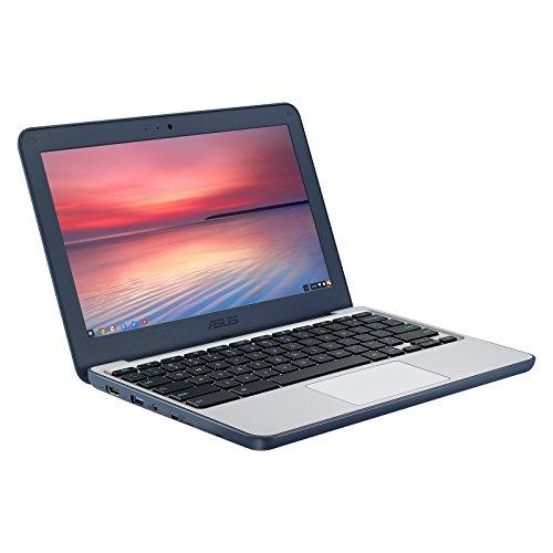 ASUS Chromebook C202SA-YS04 11.6' Ruggedized and Water Resistant Design with 180 Degree Hinge (Intel Celeron 4GB RAM, 32GB eMMC, Dark Blue)