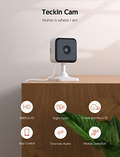 Teckin Cam 1080P FHD Indoor Wi-Fi Smart Home Security Camera with Night Vision, 2-Way Audio, Motion Detection, Omnidirection for Baby/Pet/Nanny/Elderly, Works with Alexa & Google Home, 2 Packs 13