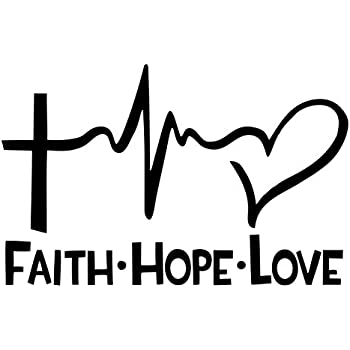 Download Amazon.com: Diamond Graphics Faith Hope Love Die Cut Decal ...