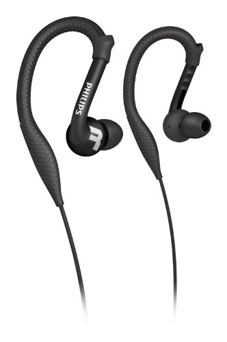 Philips SHQ3200BK/28 Action Fit Sports Earhook Headphones (Black)
