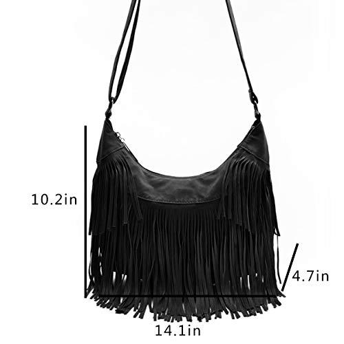 RARITY-US-Women-Fringe-Tassel-Shoulder-Bag-Large-Leather-Tote-Handbag-Hobo-Crossbody-Bag