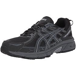 ASICS Mens Gel-Venture 6 Running Shoe, Black/Phantom/Mid Grey, 10.5 D(M) US