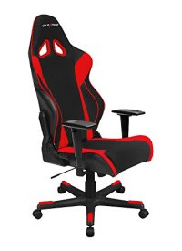 DXRacer Racing Series DOH/RW106/NR Newedge Edition Racing Bucket Seat Office Chair Gaming Chair Automotive Racing Seat Computer Chair eSports Chair Executive Chair Furniture With Pillows (Black/Red)
