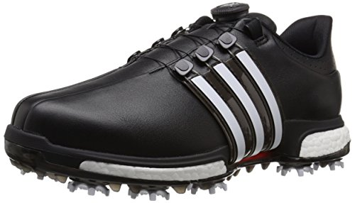 adidas Men's Tour360 Boa Boost Golf Cleated, Core Black/FTWR White/Power Red,9 M US