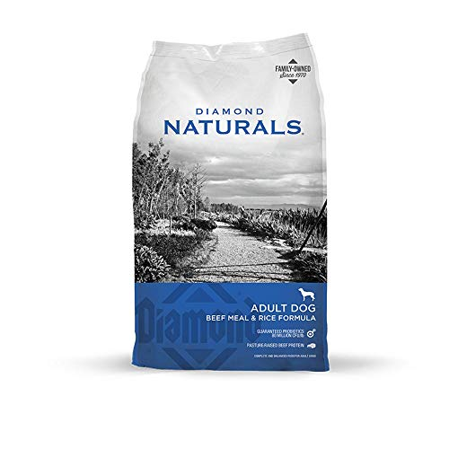 Diamond Naturals Adult Real Meat Recipe Premium Dry Dog Food With Grain and Real...