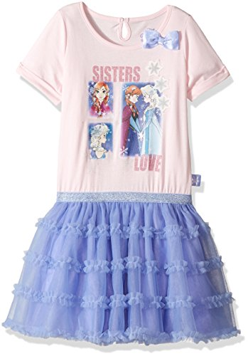 Disney Girls' Frozen Anna and Elsa Tulle Dress