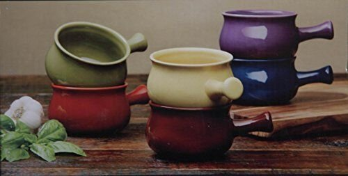 Stonewear Bowls 6 Piece Ceramic Soup Bowl Set, Multicolor