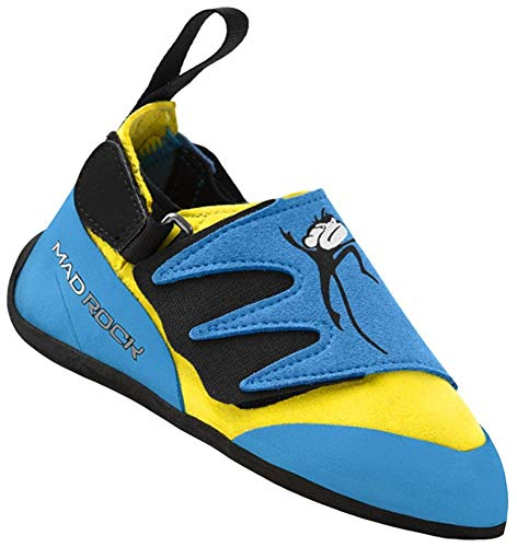 Mad Rock Mad Monkey 2.0 Kids Climbing Shoes (Strap) - Blue/Yellow (3.0 M US)