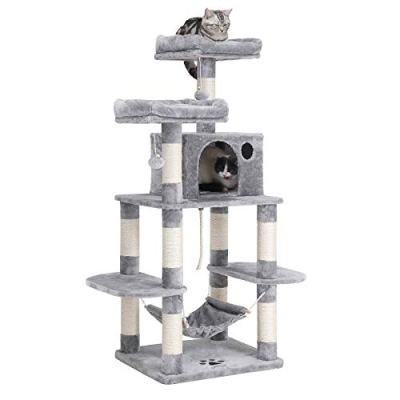 FEANDREA Multi-Level Cat Tree for Big Cats, Stable Cat Tower