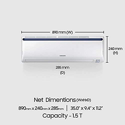 41QG0oGTNOL - Samsung 1.5 Ton 3 Star Inverter Split AC (Alloy AR18NV3JLMCNNA Blue Strip)