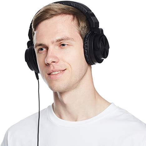 Amazon Basics Over-Ear Studio Monitor Headphones - Black 16