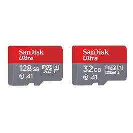 SanDisk 16GB Ultra MicroSDHC UHS-I Memory Card with Adapter – 98MB/s, C10, U1, Full HD, A1, Micro SD Card – SDSQUAR-016G-GN6MA,Red