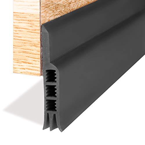 Door Strip, Door Sweep Weather Stripping Draft Stopper Under Door Draft Blocker Door Seal Noise Stopper(Black 2' Width X 39' Length)