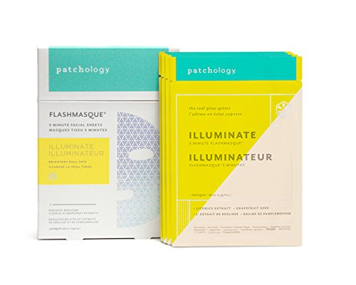 Brightens and evens skin tone Promotes radiance and improves elasticity Traditional sheet masks take up to 20 minutes to work. But Patchology's advanced masque material accelerates delivery of essential ingredients in 5 minutes.