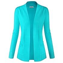BIADANI Women Classic Soft Long Sleeve Open Front Cardigan Sweater