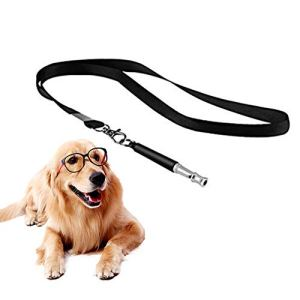 N NEWKOIN Dog Whistle, Dog Training Whistle, Ultrasonic Silent Whistle to Stop Barking, Professional Whistle with Lanyard, Adjustable Frequency Dog Training Tool