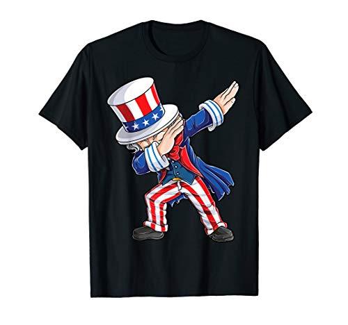 Dabbing Uncle Sam T Shirt 4th of July Kids Boys Men Gifts
