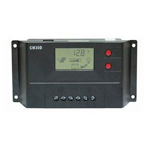 Vta-Tech 30A Solar Charge Controller 12V 24V with USB Charger Light Timer Function Solar Regulator 30amp