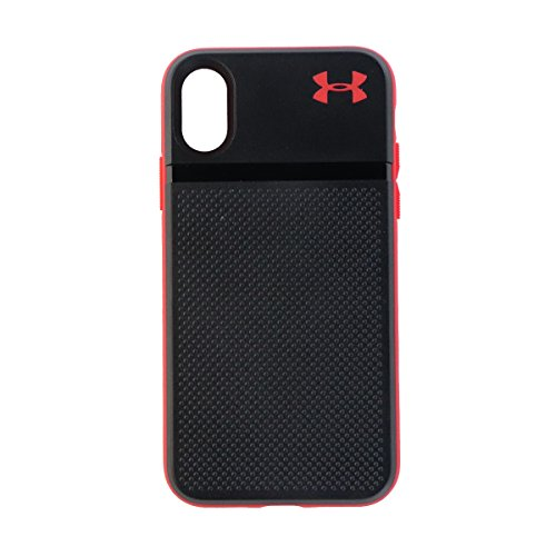 Under Armour UA Protect Stash Protective Case Cover for iPhone X 10 - Black Red