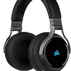 Corsair Virtuoso RGB Wireless High-Fidelity Gaming Headset (7.1 Surround Sound, Memory Foam Earpads, Omni-Directional Microphone with PC, Xbox One, PS4, Switch and Mobile Compatibility) – Carbon