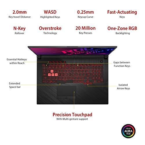 "ASUS ROG Strix G G731GT-H7158T 17.3"" FHD 120Hz Gaming Laptop GTX 1650 4GB Graphics (Core i7-9750H 9th Gen/16GB RAM/1TB NVMe SSD/Windows 10/One-Zone RGB KB/2.85 Kg), Black 5"