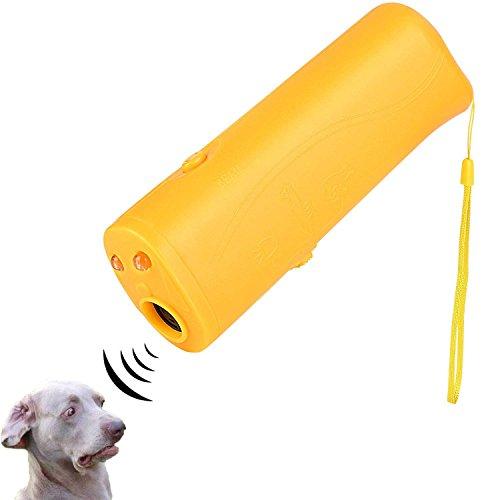 ICEVA Dog Repeller, Ultrasonic Dog Repeller 3 in 1 Portable Stop Barking, Anti Barking,LED Ultrasonic Handheld Dog Trainer Pet Training Device Outdoor Bark Controller Harmless for Training Dogs 1