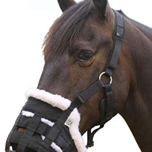 TEKE Deluxe Horse grazing Muzzle Fleece Fur Lined