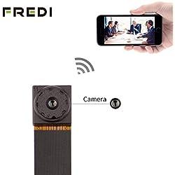 FREDI Super small 720P Mini Hidden Spy Camera Motion Detection Loop Recording WiFi Indoor Security Surveillance Cameras