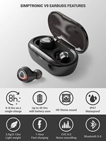 SimpTronic-True-Wireless-Earbuds-Bluetooth-50-Headphones-in-Ear-TWS-Mini-Headset-for-Sport-Extra-Bass-Stereo-Earphones-HD-Sound-IPX7-Waterproof-Noise-Cancelling-Mic-40-Hours-Playtime-Black