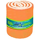 HVAC/Air Filter Media Roll, Orange/White MERV8 Polyester Media with a Heavy Dry Tackifier - 1' x 25' x 10'