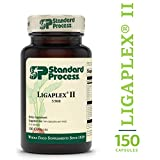 Standard Process - Ligaplex II - Joint and Connective Tissue Support Supplement, Long-Term Support for Musculoskeletal System, Provides Vitamin A, C, D, E, B12, Calcium, Manganese - 150 Capsules