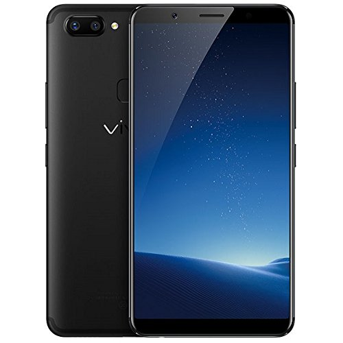 "Vivo X20 Plus 4GB/64GB 6.43"" Dual SIM 12MP Face Recognition - International Factory Unlocked GSM - No warranty in the US (Black)"